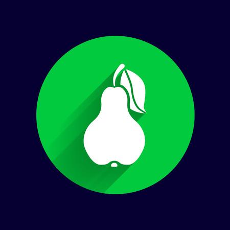dieting: Pear logo fruit diet leaf dieting health food.