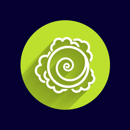 kale: Cabbage. Vector hand drawn vegetables kale logo.