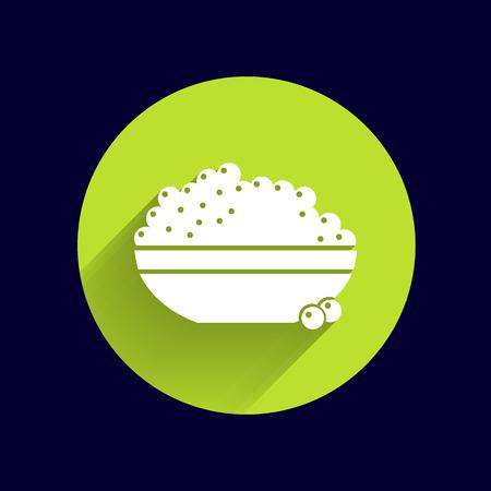 Schwarzer Kaviar logo Meeresfrüchte vector aperitif appetit. Illustration