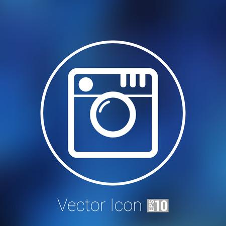 Hipster photo icon Camera icon Photo camera pictogram. Illustration