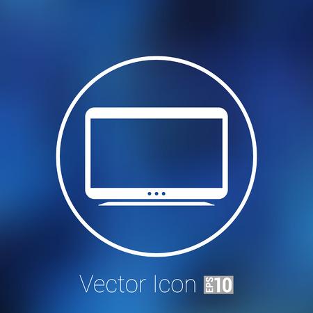lcd: tv icon tv vector flatscreen hd lcd .