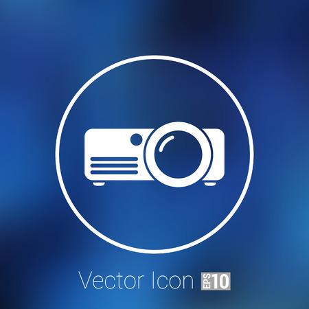 vector symbol: projector icon Rounded squares button vector symbol.