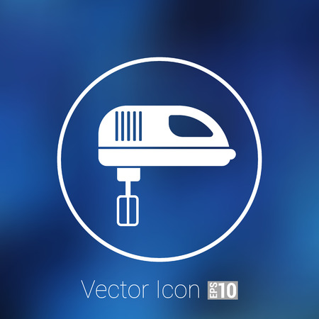 stove: icon mixer electric handmixer hat sign stove . Illustration