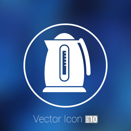 electric kettle: Electric kettle icon kitchen vector preparation illustration.