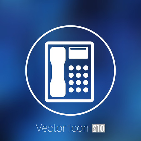 icone t�l�phone: Telephone vector icon phone ip business concept. Illustration