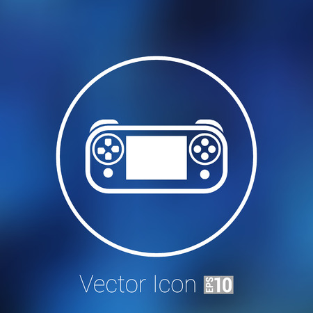 pushbuttons: illustration of game controls Video games Silhouettes vector Illustration