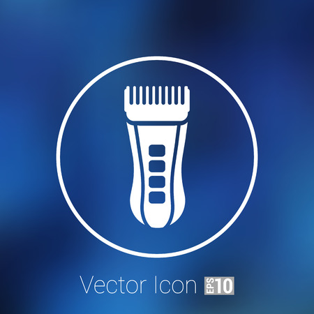 accessory: Hairclipper illustration accessory appliance barber beauty icon.