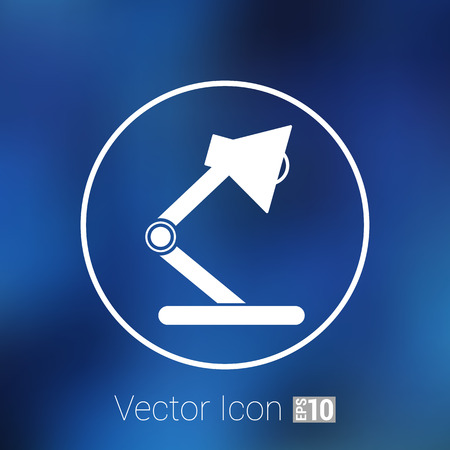 lamplight: Reading lamp Single flat icon Vector illustration.
