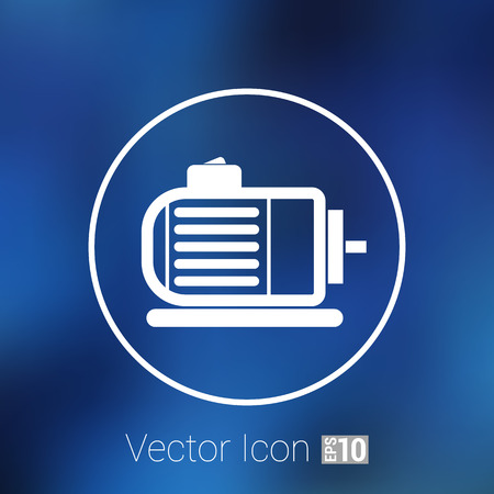 electrical equipment: Electric motor icon vector engine symbol power. Illustration