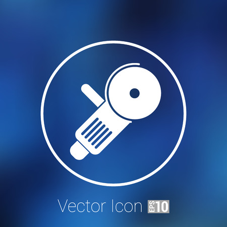 electro: Simple icon angle grinder electro vector work. Illustration