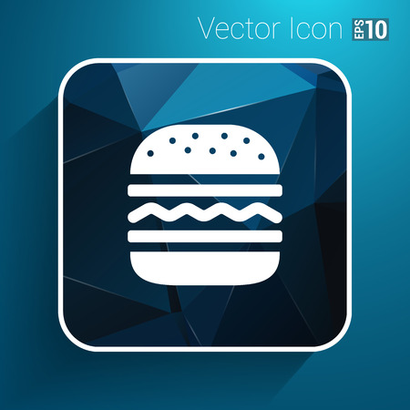 bun: Hamburger web icon burger icon hamburger vector bun. Illustration
