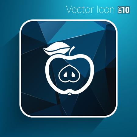 logo element: Illustration apple vector element logo nature  food.