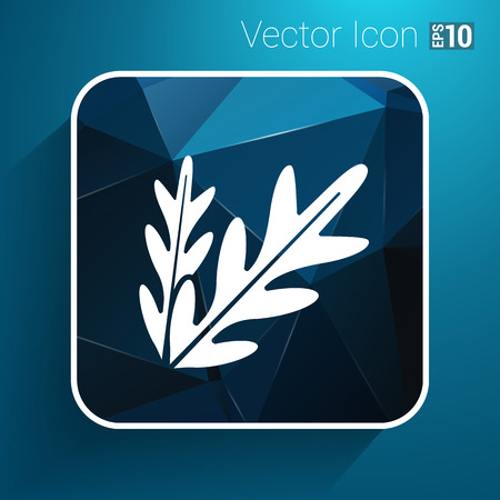 contemporary taste: arugula foliage logo element icon food vegetarian.