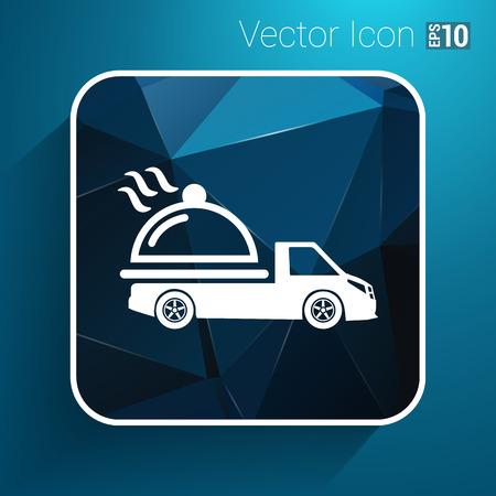 delivered: Logo Design for meal delivery service. Vector.