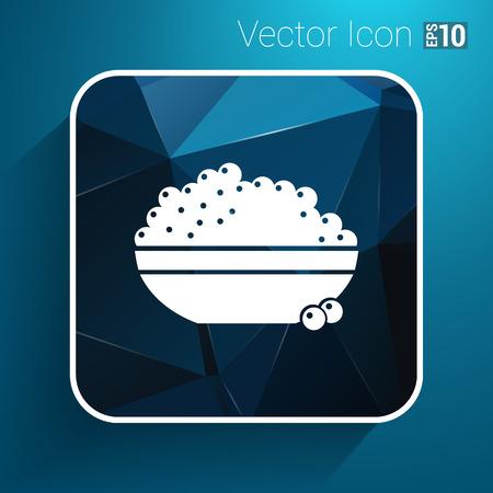 dainty: Black caviar logo seafood vector appetite appetizer.