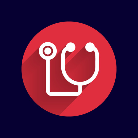 stethoscope: Vector of stethoscope icon on isolated background.
