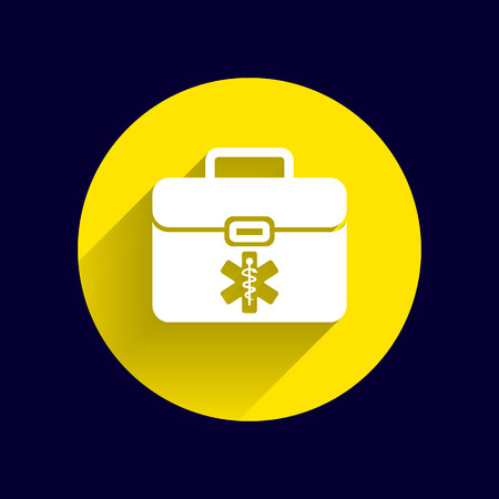 medical symbol: First aid vector icon kit medical box cross symbol.