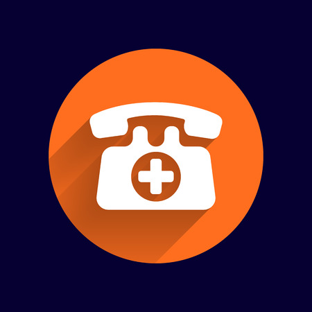 number button: emergency call sign icon vector fire phone number button Illustration
