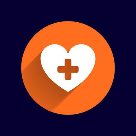 health healthcare: Heart icon medical life illustration health healthcare. Vectores