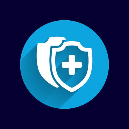 Vector Medical Shield Icon shield flat health cross medical.