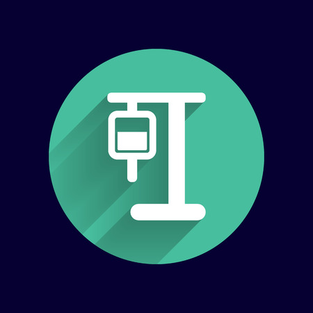 intravenous: infusion icon illustration medical bag dropper intravenous vein. Illustration