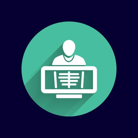 rib: X-Ray human rib cage symbol for download icon. Illustration