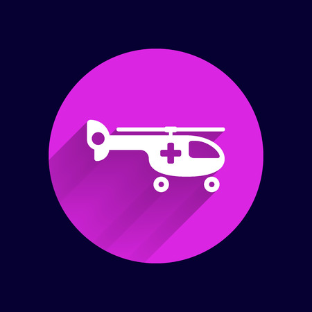 ambulance: Helicopter ambulance icon medical vector air health.