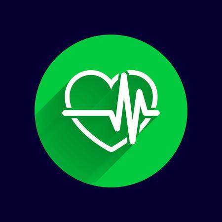 heartbeat: Heartbeat Echocardiography Cardiac exam Form of heart and heartbeat. Illustration