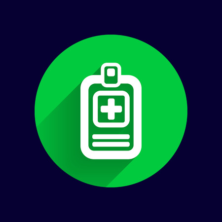 check icon: Medical records icon medical check health doctor document. Illustration
