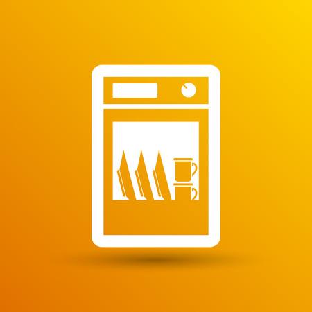 appliance: icon dishwasher appliance vector kitchen clean logo.