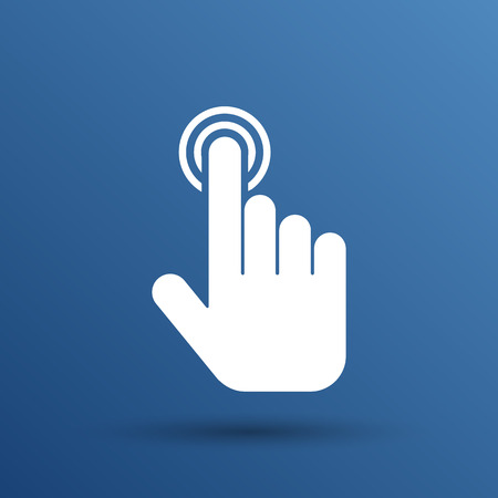 click. hand icon pointer vector finger pointer.
