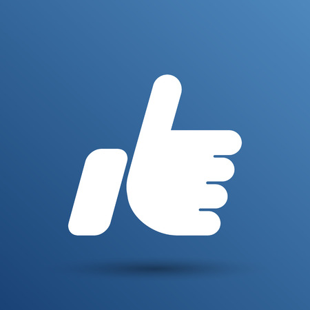 like hand: like hand ok icon vector line design.