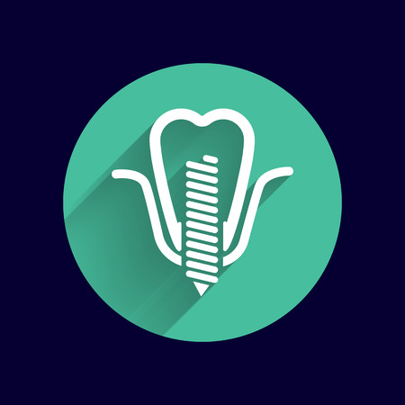 falso: atornillado diente postizo dental icono falso símbolo.