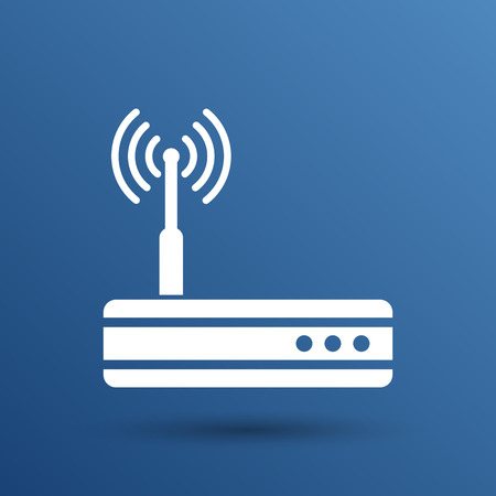 ethernet: Vector wireless router icon wifi adsl ethernet modem hub .