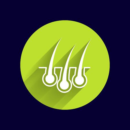 dandruff: hair icon healthy human removal grow medical.