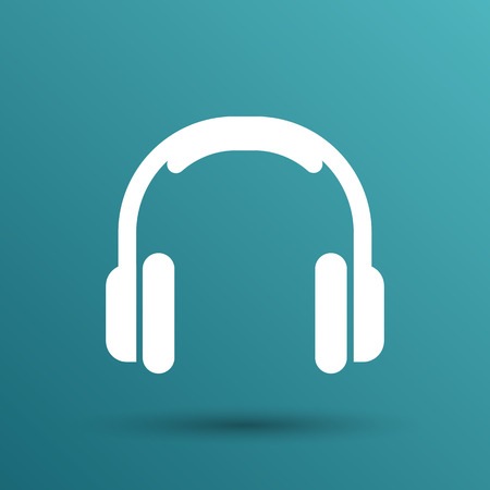 headphones: headphone icon vector music isolated hear funky white stereo.