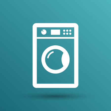 clear: washing machine icon laundry vector clothing electric clear . Illustration