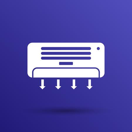 aire acondicionado: Tecnología de frío icono Temperatura Celsius Aire Acondicionado.