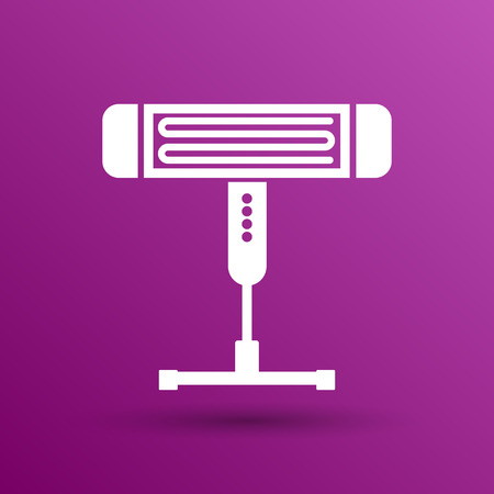 heater: Electric heater vector illustration light icon energy.