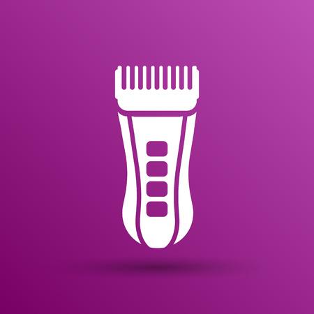 accessoire: Hairclipper illustration accessoire appareil barbier ic�ne de la beaut�. Illustration