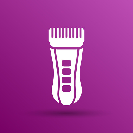 cable cutter: Hairclipper illustration accessory appliance barber beauty icon.