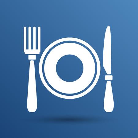 Restaurant Menü-Symbol wie logo Nahrungsmittel Café.