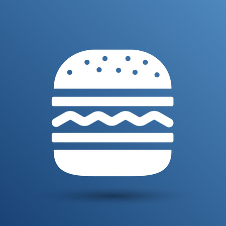 Hamburger web icon burger icon hamburger vector bun. Ilustracja