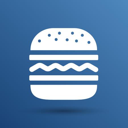Hamburger web icon burger icon hamburger vector bun. Stock Illustratie