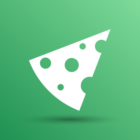 grated cheese: piece of cheese vector template icon logo. Illustration