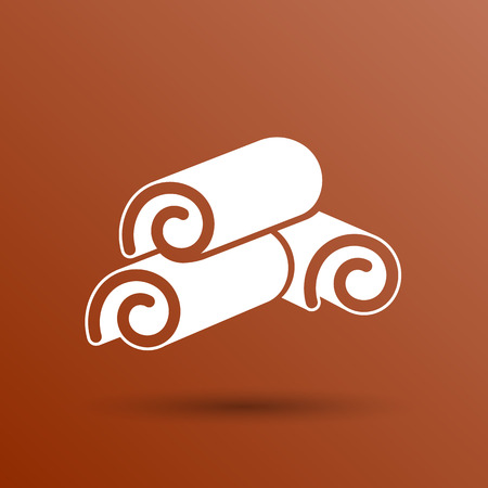 cinnamon sticks: Cinnamon sticks logo closeup heap tree art.