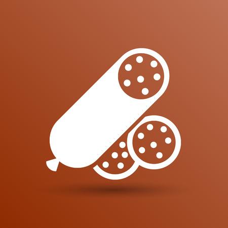 food logo: beef delicious sausage food logo design icon.