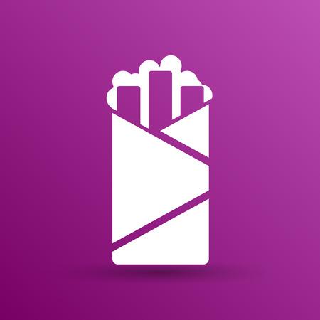 kabob: shawarma vector design template logo food roll.