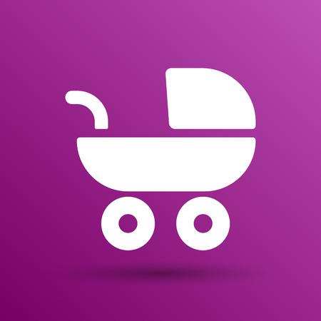baby stroller: baby stroller icon, maternity wheel illustration born pram.