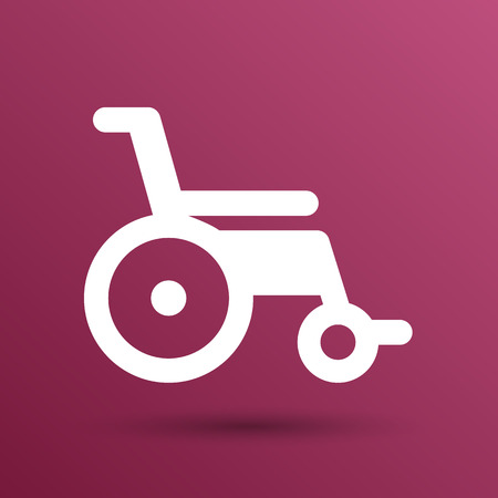 wheel car: disabled icon sign vector wheelchair handicap symbol. Illustration